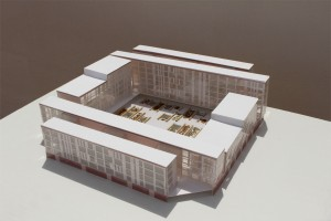 Edificio de viviendas colectivas en el Ensanche de Valencia. Vista General